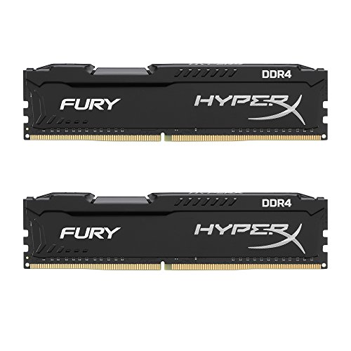 Kingston HyperX Fury Kit di Memoria RAM DDR4 da 8GB, 2x4GB, Nero