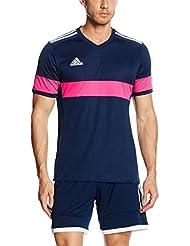 Adidas Camiseta Hombre podría 16, color  - dunkelblau / pink, tamaño L - 54