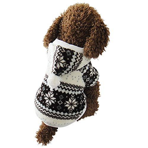 Yzibei Pullover Hund Haustier-Schneeflocke-Baumwollmantel-Haustier-Hundeweihnachtskostüm-warme Haustier-Kleidung schwarz Kleidung für Hunde (Größe : ()