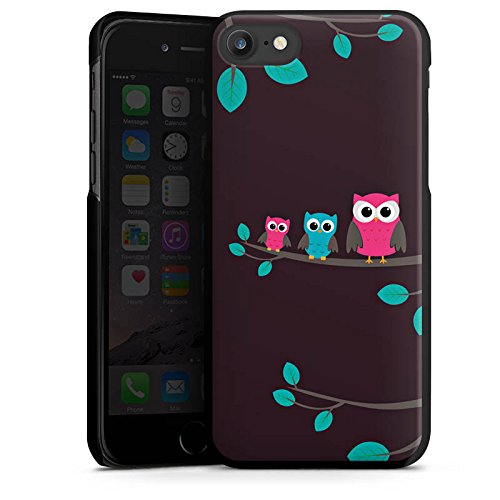 Apple iPhone X Silikon Hülle Case Schutzhülle Eulen Cute Wald Hard Case schwarz