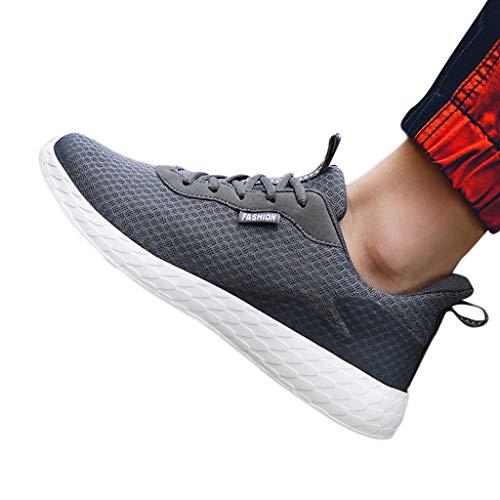 JKLEUTRW Sneakers Herren, Casual Männer Mesh Atmungsaktive Lightweight Turnschuhe Schlüpfen Dämpfung Basic Laufschuhe Boots Gemütlich Arbeitsschuhe Entspannt Freizeitschuhe