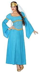 Atosa-26311 Disfraz Dama Medieval, Color azul, XS-S (26311
