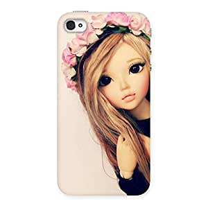 Impressive Pink Rose Doll Back Case Cover for iPhone 4 4s