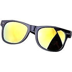 DaoRier rétro classique surdimensionné polarisées UV400Opticiens Lunettes de soleil protection UV 100% 160*60*14.5mm doré
