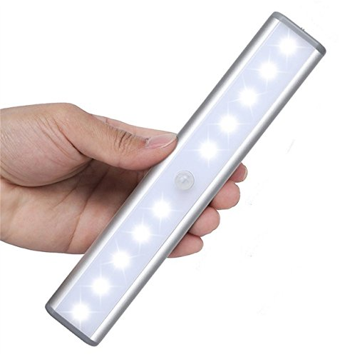 l tragbar Wenig Licht Kabelloser LED Unter Schrank Lights 10LED Bewegungsmelder aktiviert Nachtlicht bauen in wiederaufladbaren Akku Magnetband Lichter für Schrank, Schrank (Mothers Day-aufkleber)