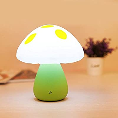 KEEDA® LED Baby Night Light, Rechargeable Cute Bedside Nursery Night Lamp, Touch Sensor Dimmable Children Nightlight, Portable Mini Mushroom Mood Lamp Table Lamp for Indoor Outdoor Bedroom Bathroom Baby Room