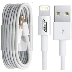 AIREL Câble Chargeur Vers USB Pour Iphone - Rechargement Et Synchronisation Haute Qualité 1M, Câble USB pour iPhone X/XS/Max 6/6S/6 Plus/6S Plus/7/7 Plus/8/8 Plus/X/5/5S/SE, 1 mètre. Marque déposée.