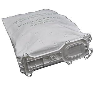 18 Staubsaugerbeutel aus Vlies passend für Vorwerk - Kobold 135 / 136 / 135SC / VK135 / VK 136 (Wei)