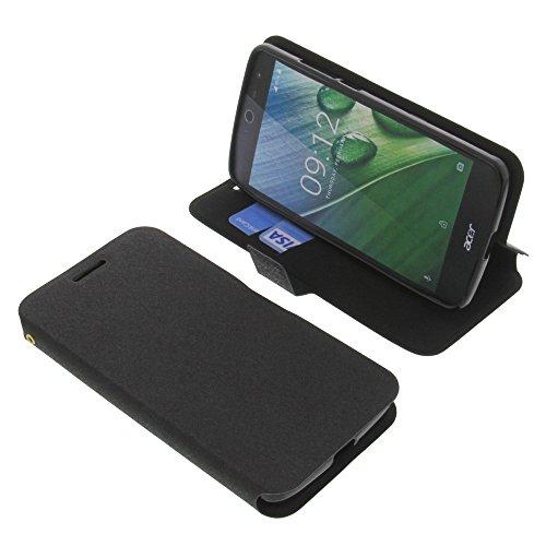 foto-kontor Tasche für Acer Liquid Jade Zest Book Style schwarz Schutz Hülle Buch