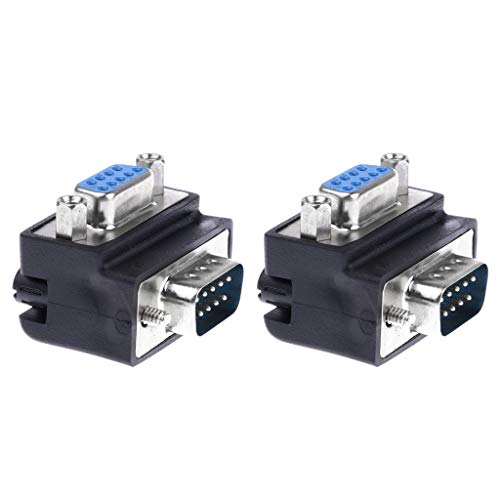 F Fityle 2X Serial RS232 DB9 Stecker/Buchse 90 ° Winkelstecker Gender Changer - Db9 F/f Gender Changer