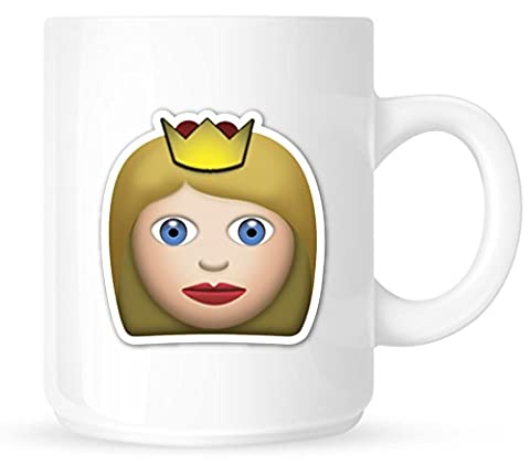 princess crown bff - Emoji Emoticon smiley rude funny humour office work - 100% Diswasher safe - Novelty Gift Coffee Tea Cup White Mug