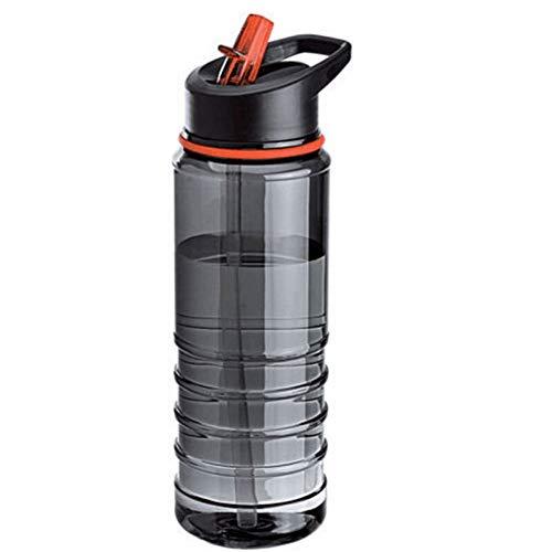 GDCAKMI 800ml Flasche für Wasser Mein Getränk Plastiksport-Wasserflasche mit Stroh im Freiensport-Saft-Zitrone beweglichem Kessel (Langlauf-wasser-flasche)