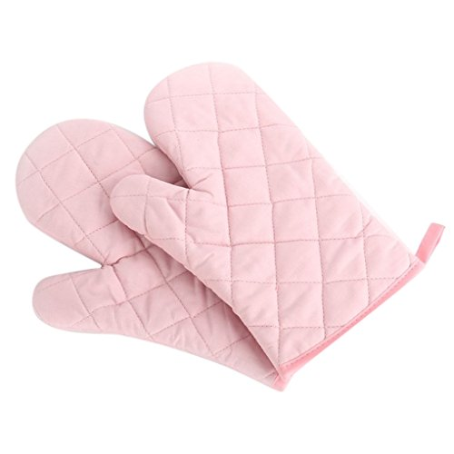 Omkuwl Ofen Topflappen Backen Kochen Ofen Handschuhe Handschuh 1 STÜCKE Nicht 1 Paar Rosa
