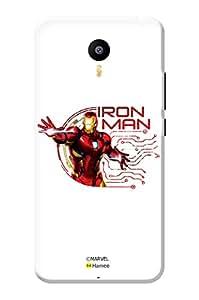 Hamee Original Marvel Character Licensed Designer Cover Slim Fit Plastic Hard Back Case for Meizu M3 Note (Iron Man)