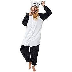 Katara 1744 - Kigurumi Pijamas Disfraz de Animal - Traje de Noche con Capucha - Adultos Unisexo - Panda Lindo, M