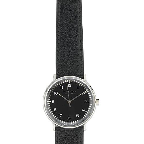 Junghans Max Bill Handaufzug Automatik Uhr, Handaufzug, J805.1, 34mm, Schwarz