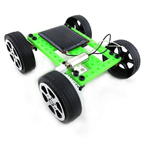 Mini giocattolo di plastica a mano ad energia solare Kit per auto fai da te Tecnologia per bambini Gadget educativo Hobby Kit divertente 8-11 Età, nero e v