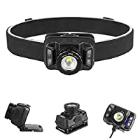 INNOLITES Headlamp Rechargeable Usb Rechargeable Sensor Headlight Adjustable Focus Sensor Strong Headlights Led Flashlights Fishing Lights