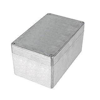 Aluminium Gehäuse Box für Platinen elektronische Bauteile (Silber 100 x 160 x 81 mm)