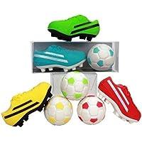 Trendhaus 934499 -  Radierer Fußball Set, 2er Pack (sortiert)