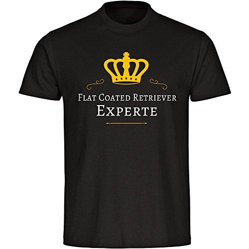 T-Shirt Flat Coated Retriever Experte schwarz Herren Gr. S bis 5XL, Größe:XL (Retriever-herren-shorts)