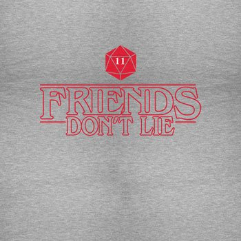 Planet Nerd - Friends Don't Lie - Herren Kapuzenpullover Grau Meliert