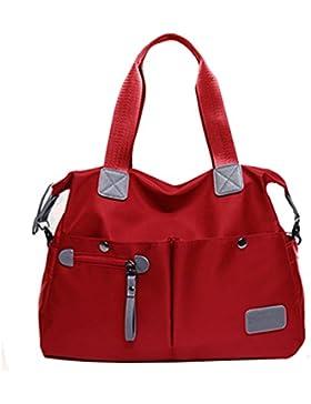 AiSi Damen Nylon Handtasche / Umängetasche / Schultertasche / Nylon-Tasche / Segeltuchtasche mit dem abnehmbaren...
