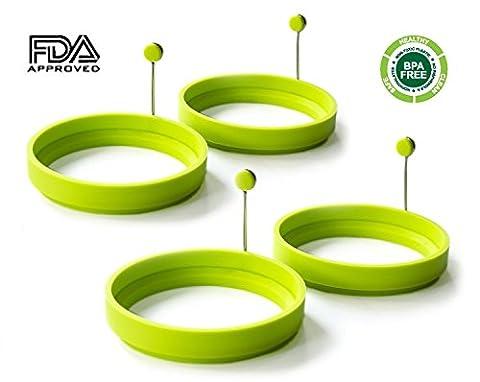 freshlove 4er Pack Silikon Ei Ring–Ei-Form–Silikon Pancake Form