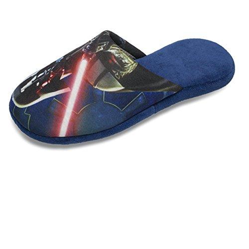 SAMs Hausschuhe Disney STAR WARS Darth Vader Pantoffel Schlappen Slipper Puschen JEDI MACHT Qualität, TH-PantoDarth Blau