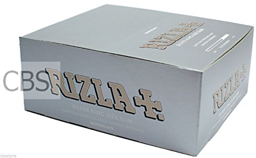 rizla-silver-king-size-ultra-slim-rolling-paper-box-of-50-booklets