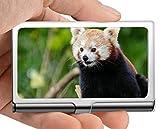 Visitenkartenetui Geldbörse, Bett Zoo Panda Visitenkartenetui Visitenkartenetui (Edelstahl)