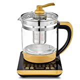 HONG Kochende Teekanne mit Multifunktionsfunktion, 18 Funktionen elektrischer Haushalts-Haushalts-Topf, automatisches Verdickungsglas, 1.8l große Kapazität/nach Terminabsprache