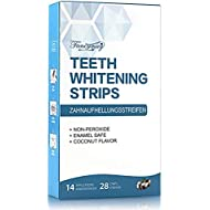 Teeth Whitening Strips, Professional Whitening Strip Kit with 3D Non-Slip Dental Teeth Whitener, Removes Stains & Freshens Breath with Coconut Oil, 14 Sets, 28 Whitestrips