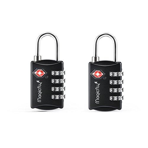 magicfly-padlock-tsa-approved-luggage-travel-suitcase-lock-4-digit-combination-cable-lock-2x-black