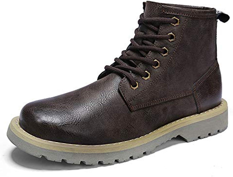 Shufang-scarpe Stivaletti da Uomo Casual Stivaletti da Lavoro Eleganti e Confortevoli con Punta rossoonda (Coloree... | Negozio famoso  | Scolaro/Ragazze Scarpa