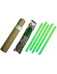 Cyalume Carton de 4 tubes de 5 Bâtons Lumineux Snaplight Non-IMPACT 40cm Vert 1 Anneau 12 Heures 15'' Emballés Individuellement (Paquet de 20)