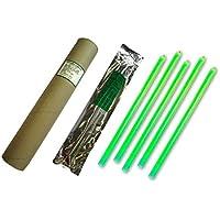Cyalume - Paquete de 20 tubos luminosos SnapLight Non-Impact, 40 cm, 15 pulgadas, 1 Anilla, 12 horas, embalados individualmente, color verde