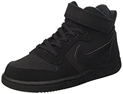Nike Court Borough Mid (Psv)-870026, Jungen Basketballschuhe, Schwarz (Black Black), 33 EU