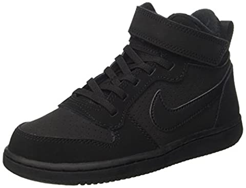 Nike Court Borough Mid, Baskets Garçon, Noir (Black/Black), 32 EU