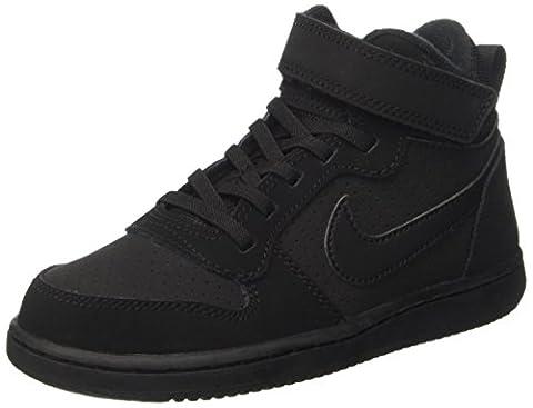 Nike Court Borough Mid (Psv), Chaussures de Basketball Garçon, Noir (Black Black), 35 EU