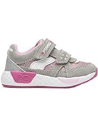 Primigi - 2448211 Grigio Rosa Scarpe Bambina Sneakers Glitter Bimba Primi  Passi 6367e1da8a3