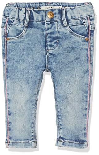NAME IT Baby-Mädchen NBFSALLI DNMTIA 2158 Pant NOOS Hose, (Medium Blau Denim), (Herstellergröße:62)