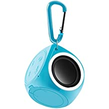 Mini IPX7impermeabile altoparlante, Hipipooo Bluetooth senza fili con carabiner. built- in microfono per vivavoce, coppie con tutti i dispositivi Bluetooth (blu)