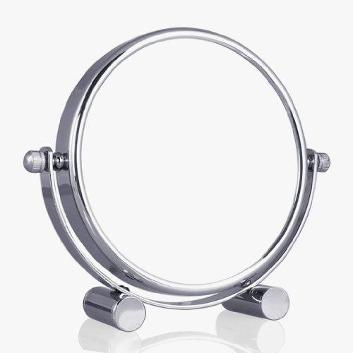 Wunderschöner-Standspiegel-Kosmetikspiegel-Badspiegel-10 FACH Zoom -Chrom Ausführung