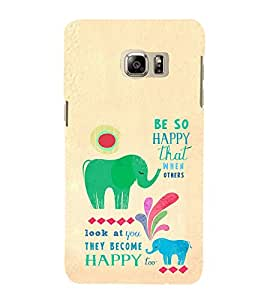 EPICCASE Be so happy Mobile Back Case Cover For Samsung Galaxy Note 5 Edge (Designer Case)