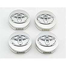 For Toyota 62mm Outer Diameter Silver Wheel Center Hub Caps Cover 4-pc Set