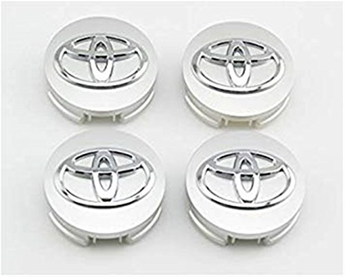 yongyong218 for Toyota 62 mm Outer Diameter Silver Wheel Centre Hub Caps Cover 4-pc