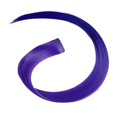 2 morceaux de Mode cheveux invisibles pièce extension perruque, violet