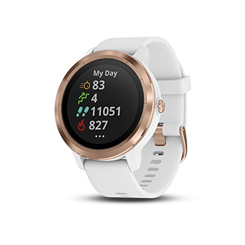 Garmin Vivoactive 3 Gps Smartwatch With Built-in Sports Apps & Wrist Heart Rate - Rose Goldwhite