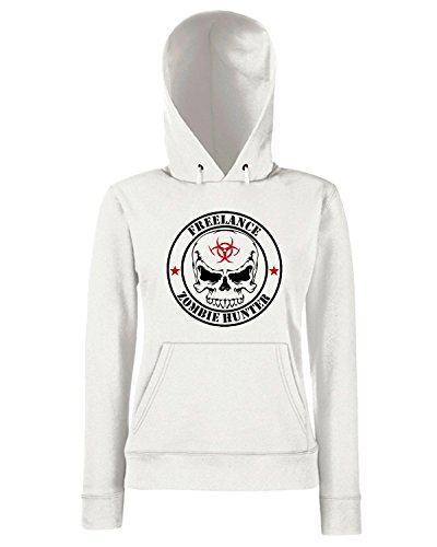 T-Shirtshock - Sweats a capuche Femme TZOM0002 freelance zombie hunter white Blanc